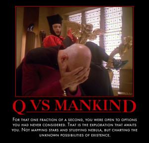 Star Trek) Q vs Mankind