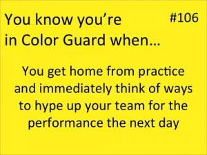 color guard quotes in guard when color guard