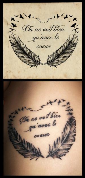 Birds Quote Tattoo Design Cool