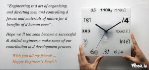 Engineering Day Quotes Images With World Clock