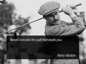 Golf Harry Vardon Quotes