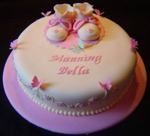Cute Baby Shower Cakes Sayings For A Girl