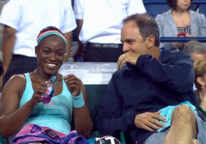 Sloane Stephens and Paul Annacone