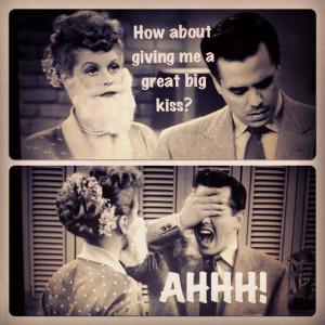 Both Ricky and Desi loved the feminine Lucy. Ha ha!