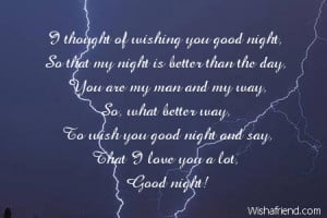 Sexy Good Night Quotes For Him To wish you good night