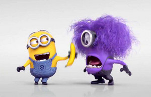 ... funny, laughing, minions, purple, xd, yellow, despicable me 2, evil