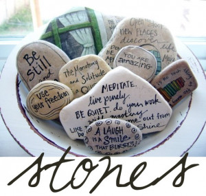 Write your favorite book quotes on stones with a Sharpie or a paint ...