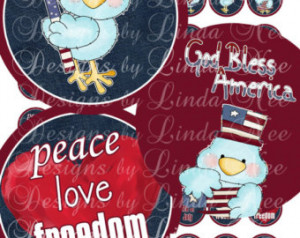 NEW- American Pride Fourth of July Patriotic Quotes (1.25 inch round ...