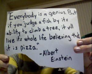 Albert Einstein #pizza #pizza quotes