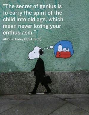 Aldous Huxley quote