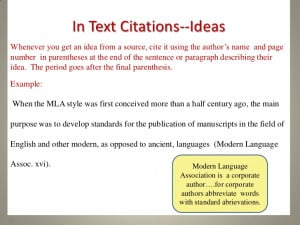 Mla In Text Citation Unknown Author