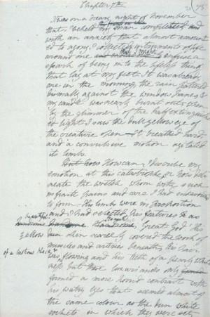 leaf from draft Frankenstein notebook