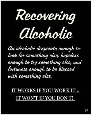 Definition of a Recovering Alcoholic