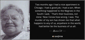 Mamie Till Quotes