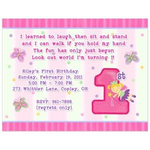 ... Fun at One Birthday Party Invitation, Girl First Birthday Invitation