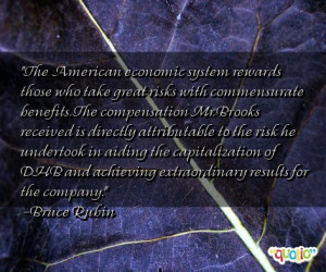 The American economic system rewards those who