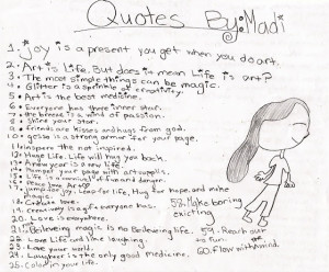 2012 Quotes by Madi & more Sketchbook pages