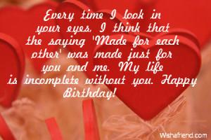 Happy Birthday Quotes for Boyfriend on Facebook