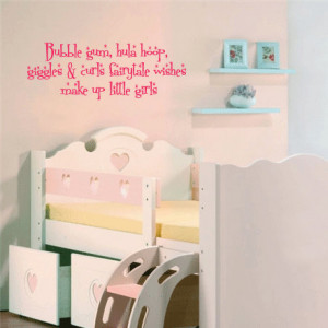 Bubble gum, hula hoop, giggles & curls... - Vinyl Wall Quote Decal