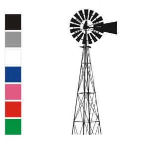 windmill vinyl wall art sticker of a windmill size price medium ...