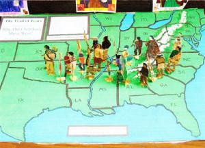 ... . Kieran School in San Diego did to show the Cherokee Trail of Tears