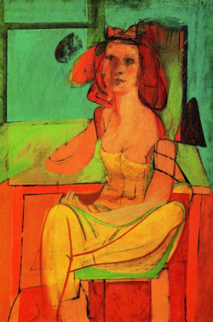 """Willem De Kooning, Seated Woman , ca.1952"""" The attitude that nature ..."""