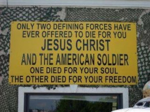 Jesus Christ and the American Soldier~
