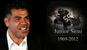memorial service for Seau in San Diego)
