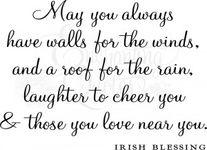 Family Sayings - Irish Wall Blessing