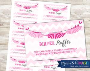 Shower Diaper Raffle Cards for Tutu Cute, Printable PDF Diaper Raffle ...