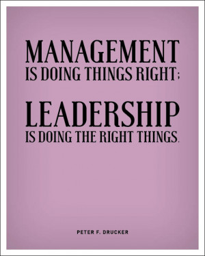 Management Is Doing This Right Leadership