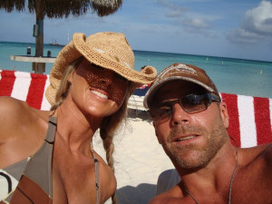 Shawn Michaels and Rebecca at beach