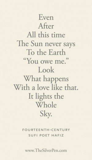 ... poems tagged with even after hafiz silver lining sufi poet hafiz
