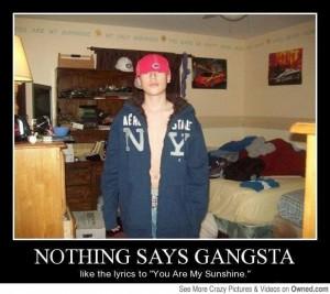 funny image, gangster, gangsta, demotivational, thug, fake