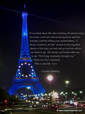 The Inspiration Series – Eiffel Tower, Quote By Lavinia Spalding