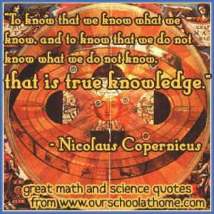 Nicolaus Copernicus offers wisdom about wisdom