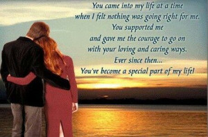 You've become a special part of my life