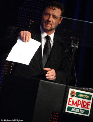 From the heart: Russell Crowe makes a poetry-laden acceptance speech ...