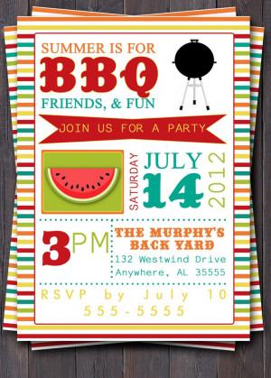 ... Bbq Invitations, Bbq Birthday, This Summer, Invitations Idea, Summer