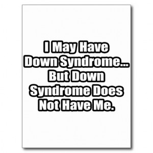 Down Syndrome Quote Post Cards