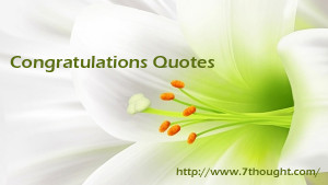 Congratulations Quotes 01/20/2015