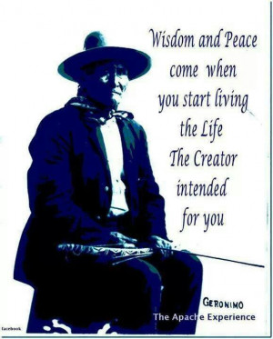 Geronimo quotes. Native American
