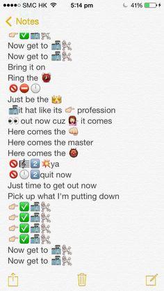 Emoji lyrics, Work Bit*h by Britney Spears Part 2 More