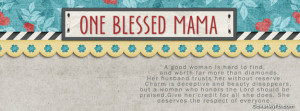 One Blessed Mama Facebook Cover