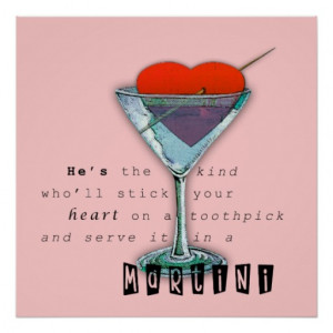 Funny Martini Quote Poster