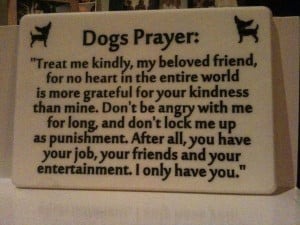 Dog's Prayer engraved and painted in Corian.