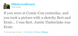 Justin Timberlake Was Running Around Comic-Con Dressed As A Sesame ...