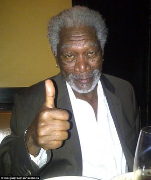 ... Eyelids': Morgan Freeman jokes about snoozing during TV interview