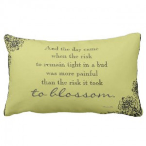 Anais Nin Risk Quote Throw Pillow by QuoteLife
