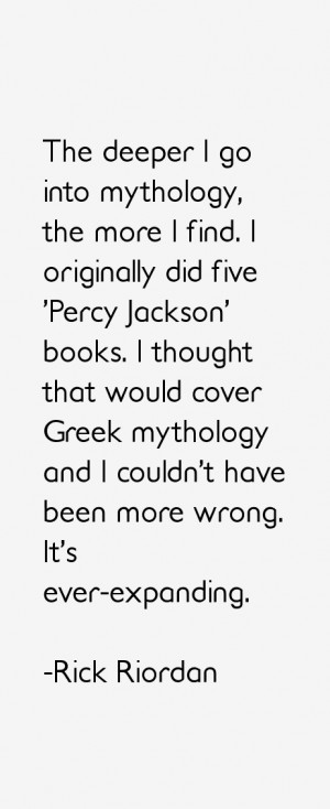 The deeper I go into mythology, the more I find. I originally did five ...